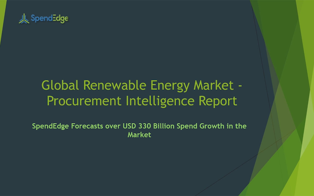 SpendEdge has announced the release of its Global Renewable Energy Market Procurement Intelligence Report.