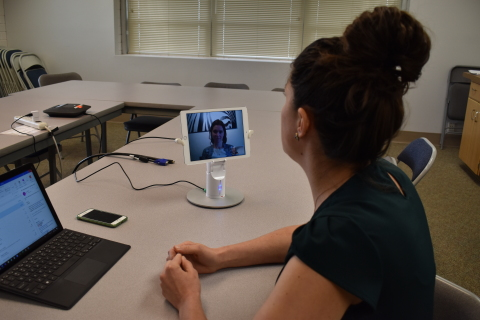 Compass Health Bridge mobile telehealth system connects providers and clients. (Photo: Business Wire)