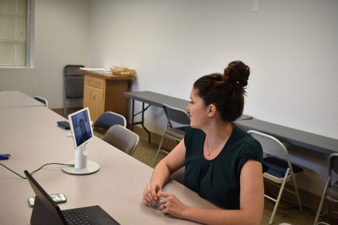 Compass Health Bridge allows providers to see the client's environment using the mobile device. (Photo: Business Wire)