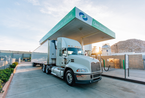 Clean Energy continues to expand the use of clean, ultra-low carbon fuel for fleets. (Photo: Business Wire)