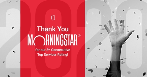 Vervent Earns Their 3rd Consecutive Top Morningstar Credit Ratings Ranking. (Graphic: Business Wire)