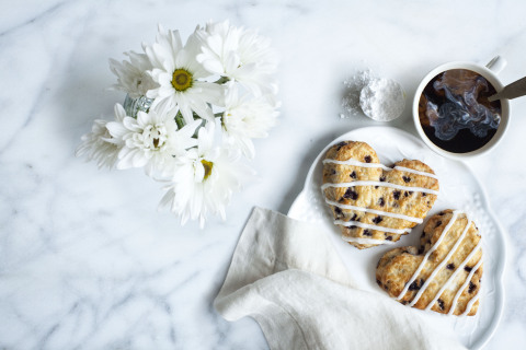 Bojangles' Heart-Shaped Bo-Berry Biscuits are available for a special Buy One Get One deal during Mother's Day Weekend, May 8-10, at participating locations. (Photo: Bojangles')