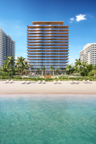 57 Ocean overlooks the Atlantic Ocean on Miami Beach's iconic Millionaire's Row (image by DBOX for 57 Ocean)