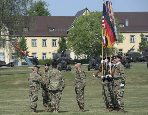 Fluor will provide the U.S. Army Europe's 7th Army Training Command with logistics support services. Pictured is a change of command ceremony in Germany. (Photo: Business Wire)