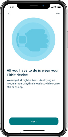 Fitbit has made it easy for people to enroll, via the Fitbit app or online. Participate by simply wearing your eligible Fitbit device day and night during the study period. (Graphic: Business Wire)