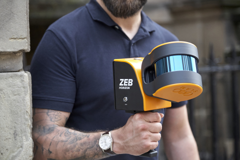 GeoSLAM uses Velodyne's Puck LITE™ sensor in its ZEB-HORIZON mobile scanner that provides 3D mapping of indoor, underground and difficult to access environments without the need for GPS. (Photo: GeoSLAM)