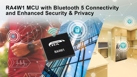 RA4W1 MCU with Bluetooth 5 Connectivity and Enhanced Security & Privacy (Graphic: Business Wire)