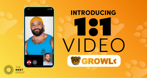 The Meet Group Launches Live Video on Gay Dating App GROWLr (Photo: Business Wire)