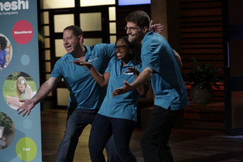 Team Tanoshi on Shark Tank (Photo: Business Wire)