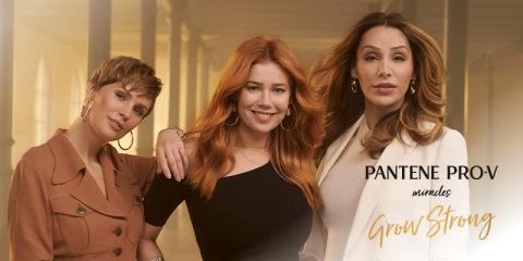 Die neue #GrowStrong Kampagne von Pantene Pro-V (Foto: Business Wire)