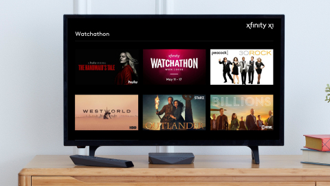 Xfinity Watchathon Week returns May 11-17 with more than 10,000 free TV shows and movies (Photo: Business Wire)