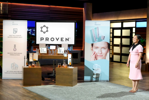 Ming S. Zhao, co-founder and CEO at PROVEN Skincare, in the tank on ABC's 'Shark Tank'. (Photo: Business Wire)
