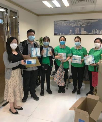 Galton Voysey捐贈2.5萬個防護口罩給香港街道清潔工(照片:美國商業資訊)