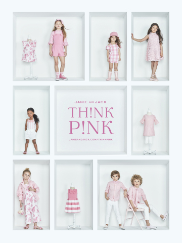 Janie and Jack Launches Limited Edition Pink Collection and Give Back Campaign with the Pink Agenda and Fab-U-Wish in Support of Breast Cancer Awareness (Photo: Business Wire)