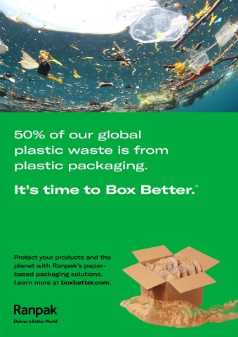 """Ranpak launches a B2B digital marketing campaign calling on direct-to-consumer (DTC) e-commerce brands to """"Box Better™"""" with Ranpak's sustainable packaging solutions. (Graphic: Business Wire)"""
