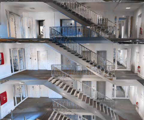 Survey-grade, photorealistic point clouds captured with NavVis VLX, equipped with Velodyne Puck LITE™ sensors. (Photo: NavVis)