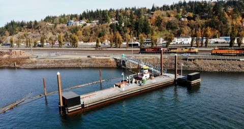 New commercial wharf at Port of Kalama (Photo: Business Wire)