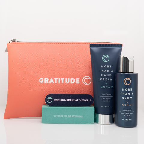 MONAT Gratitude raised $248,000 through sales of their Helping Hand Gift Set. (Photo: Business Wire)
