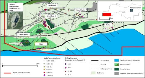 Location of new Ikkari discovery at Area 1 - situated along a major regional structure and 25km from the Pahtavaara mill. (Photo: Business Wire)
