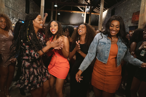 "From L-R- Novi Brown, KJ Smith, Ebony Obsidian and Mignon star in ""Tyler Perry's Sistas"" on BET (Photo: Business Wire)"