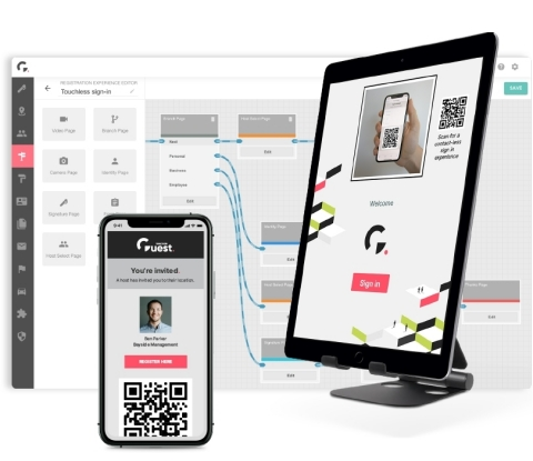 Traction Guest ZeroTouch for Touchless Sign-in/Sign-out and Secure Registration for Employees and Visitors (Graphic: Business Wire)