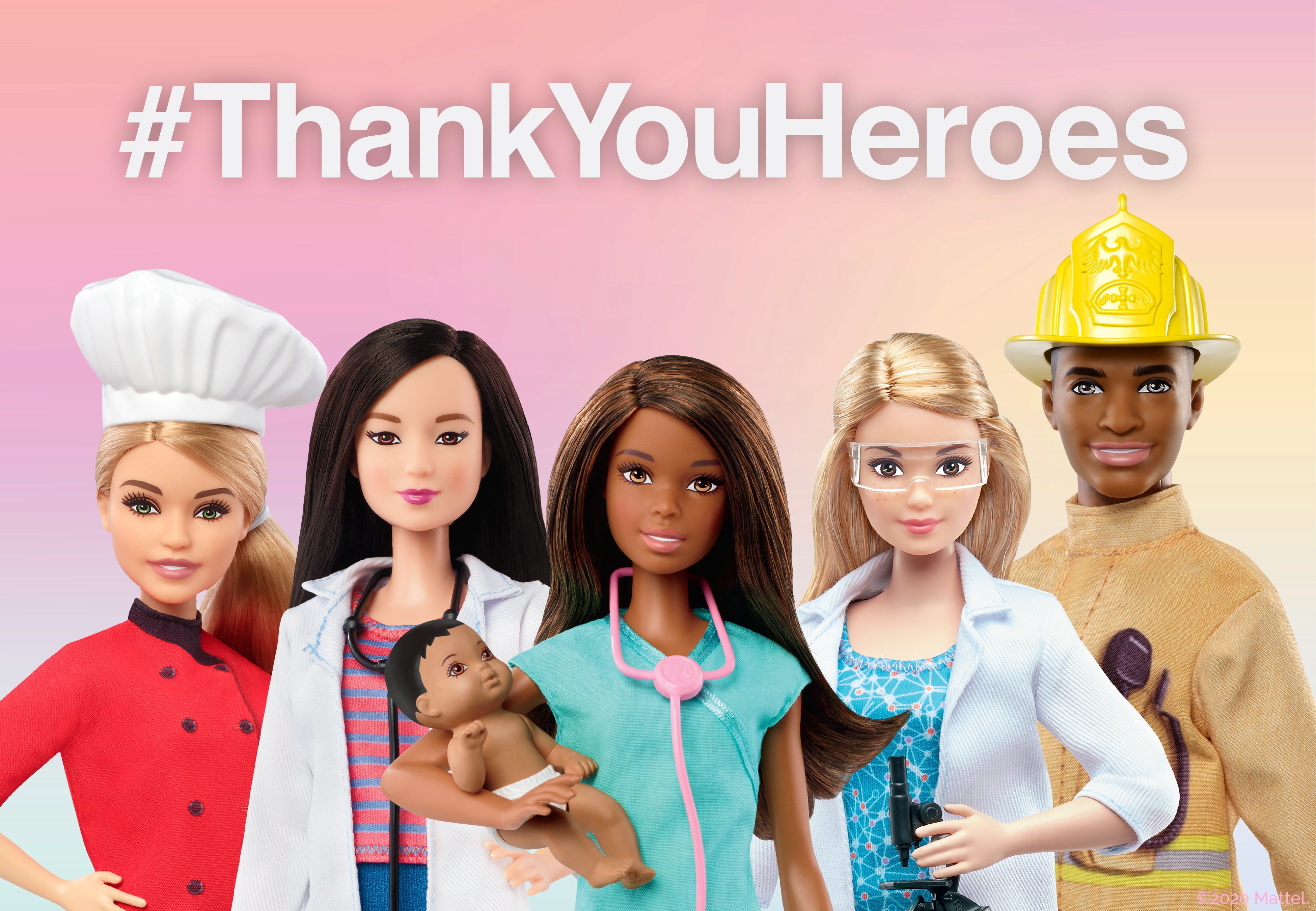 Mattel Unveils #ThankYouHeroes Program From Barbie® Supporting ...