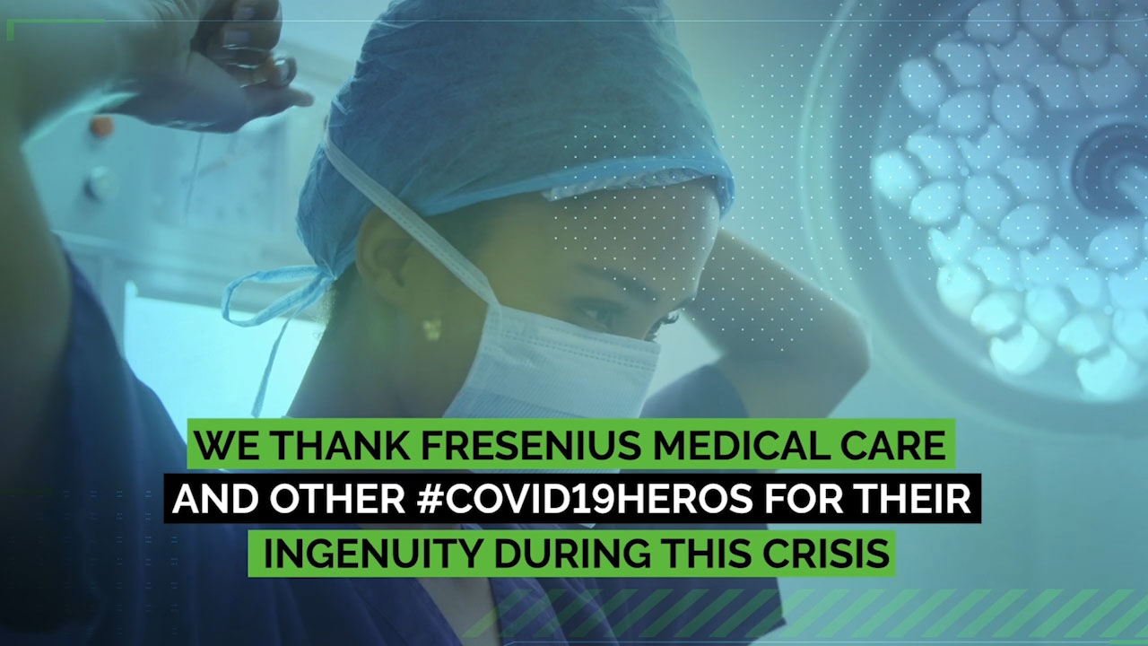 Fresenius Medical Care, a COVID-19 Hero who joined a coalition of kidney dialysis providers dedicated to maintaining continuity of care for dialysis patients.