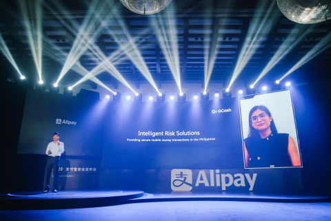 Ms Peach Lucienne Orbe, Head of Risk Decision Center at GCash, speaking at Alipay Risk & Security Tech Launch 2020 (Photo: Business Wire)