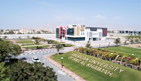 A panoramic view of part of the AURAK campus in Ras Al Khaimah (Photo: AETOSWire)