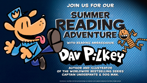 Books-A-Million invites students to participate in the annual Summer Reading Program with Dav Pilkey. (Graphic: Business Wire)
