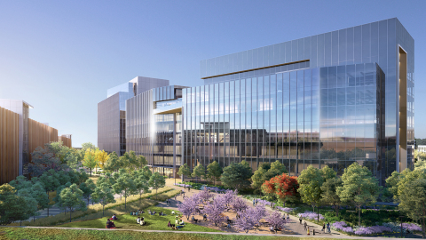 Courtyard view of BioMed Realty's Gateway of Pacific Phase 2 building in South San Francisco. (Photo: Business Wire)