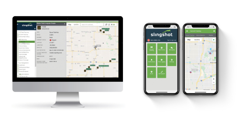 Raven Industries: Slingshot® Fleet Tracking allows users to wirelessly track the location and other important information about their trucks, vehicles, trailers, tanks and other moving assets by providing accurate machine running data in real-time. This gives ag retailers and enterprise growers a holistic view of their entire fleet — including work, idle and transit times — to better manage their equipment, assets and operations. (Photo: Business Wire)