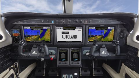 Garmin G3000 Autoland activation (Photo: Business Wire)