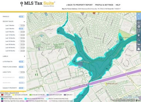 CRS Data's MLS Tax Suite map layers tools are used to help agents optimize sales in today's more virtual environment. (Graphic: Business Wire)