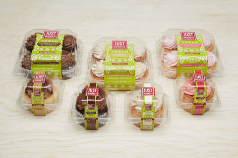 Just Desserts launches a new line of certified vegan cupcakes (Photo: Business Wire)