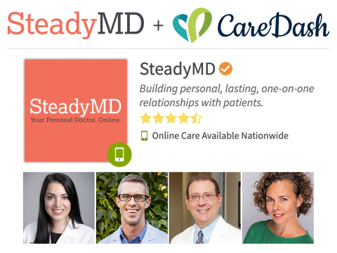 CareDash and SteadyMD Partner to Bring Doctors to People Everywhere for Care Online (Graphic: Business Wire)