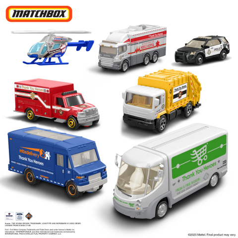 Mattel Expands #ThankYouHeroes Collection With New Collectible Products From Matchbox® (Photo: Business Wire)