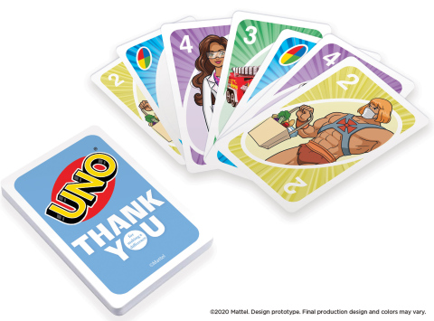 Mattel Expands #ThankYouHeroes Collection With New Collectible Products From UNO® (Photo: Business Wire)