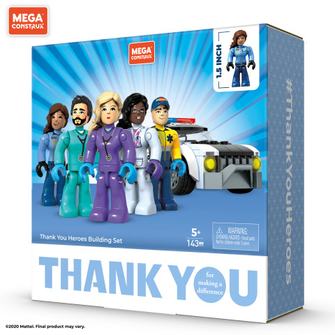 Mattel Expands #ThankYouHeroes Collection With New Collectible Products From Mega Construx® (Photo: Business Wire)