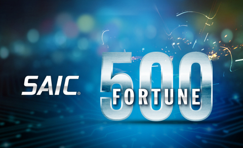 With a 37% revenue growth in fiscal year 2020, SAIC ranks number 466 on the Fortune 500 list. (Graphic: Business Wire)