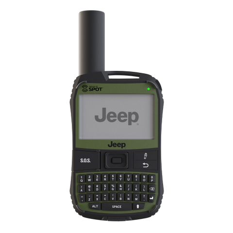 The SPOT X Jeep Edition offers 2-way messaging capabilities with an on-board backlit display and Qwerty keyboard, GPS location tracking, and direct communication with emergency services.  (Photo credit:  Globalstar Canada Satellite Co.)