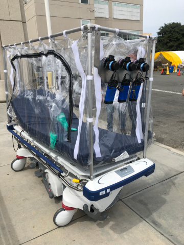 A&R Tarpaulins' Patient Isolation Transportation Unit received FDA Emergency Use Approval and is available today. PITU allows properly attired family members to visit patients infected with COVID-19. (Photo: Business Wire)
