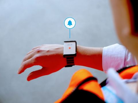If the rules are broken, the sensor sends out a warning signal. (Photo: Business Wire)