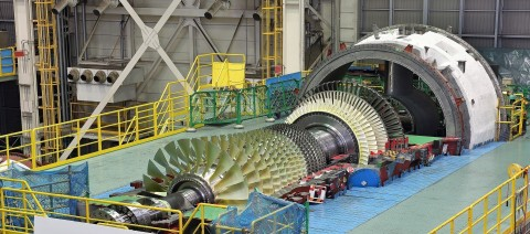 MHPS M501JAC gas turbine being manufactured at Takasago Works in Hyogo Prefecture, Japan. (Photo: Business Wire)