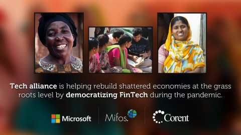 Corent Tech's SurPaaS® Platform, together with Microsoft Azure Cloud enable Mifos Initiative to offer affordable core financial services to the 2 billion unbanked and impoverished populations as a backbone of financial inclusion, access to credit and micro-financing. (Photo: Business Wire)