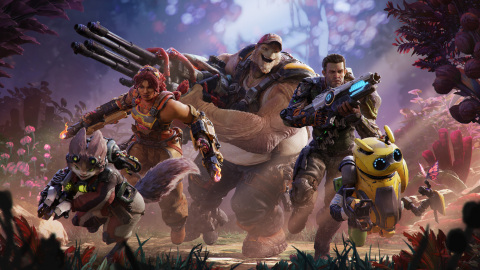 In Crucible, players choose from a diverse roster of 10 hunters, and work with teammates to hunt their opponents and take down hostile creatures on a lush rogue planet in pursuit of Essence, a valuable resource that amplifies hunters' powers. (Photo: Business Wire)