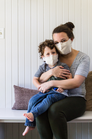 TFS Natural Home by The Futon Shop organic cotton barrier face masks, cotton silk face masks, and copper infused face masks in multiple adult and child sizes. (Photo: Business Wire)