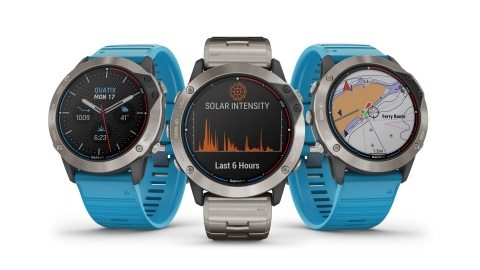 Garmin's quatix 6X Solar is the latest addition to its new marine GPS smartwatch series that features a transparent solar charging display that uses the sun's energy to extend battery life. (Photo: Business Wire)