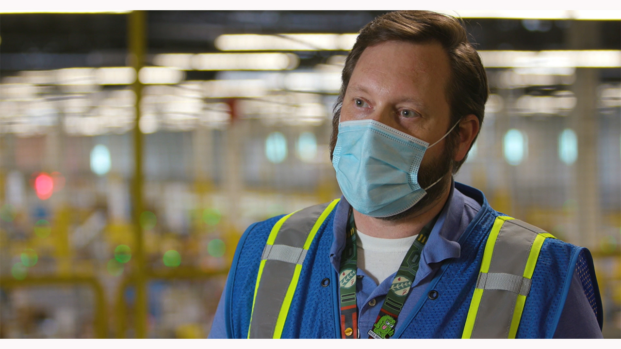 FIRST LOOK: Amazon transforms operations in response to COVID-19. See how the company is protecting associates during the pandemic to keep delivering for you. This version does not have a voice track so your local anchor can record using the provided script.