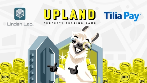 Upland enters strategic agreement with Tilia Pay; Upland players will be able to sell owned virtual properties for real-world currency (Graphic: Business Wire)